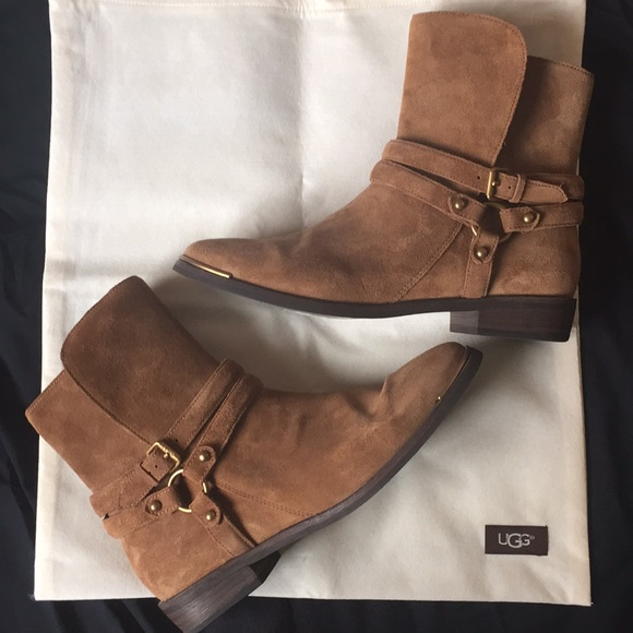 b5ae7e4f1c3 UGG Kelby Womens Ankle Boots 8.5 Dark Chestnut EUC